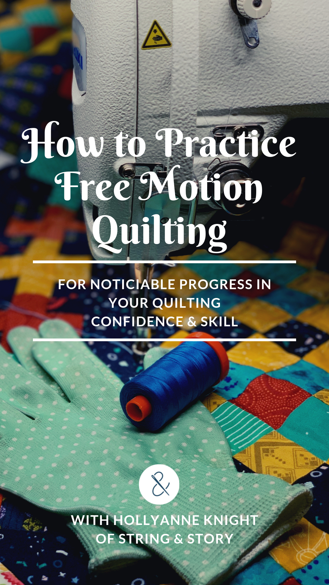 Learn a system and routine for practicing your Free Motion Quilting so that you can become a Quilting Rockstar!
