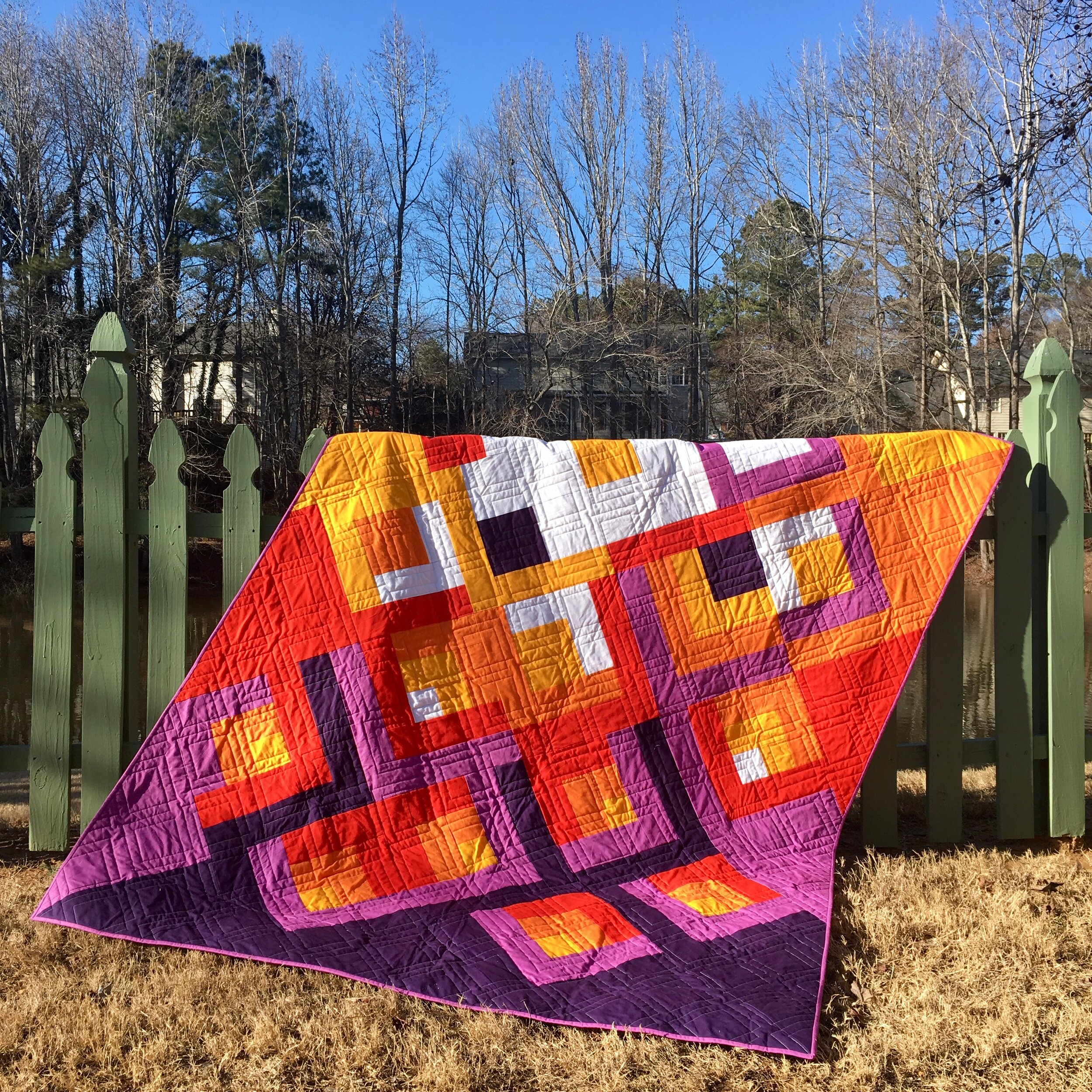Free Motion Quilting Plans for Lanterns of Hope Quilt by HollyAnne of String & Story