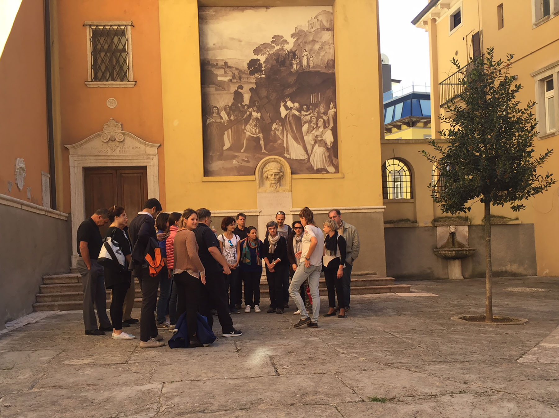Street choir in Riva del Garda, a common occurrence during the In....Canto sul Garda