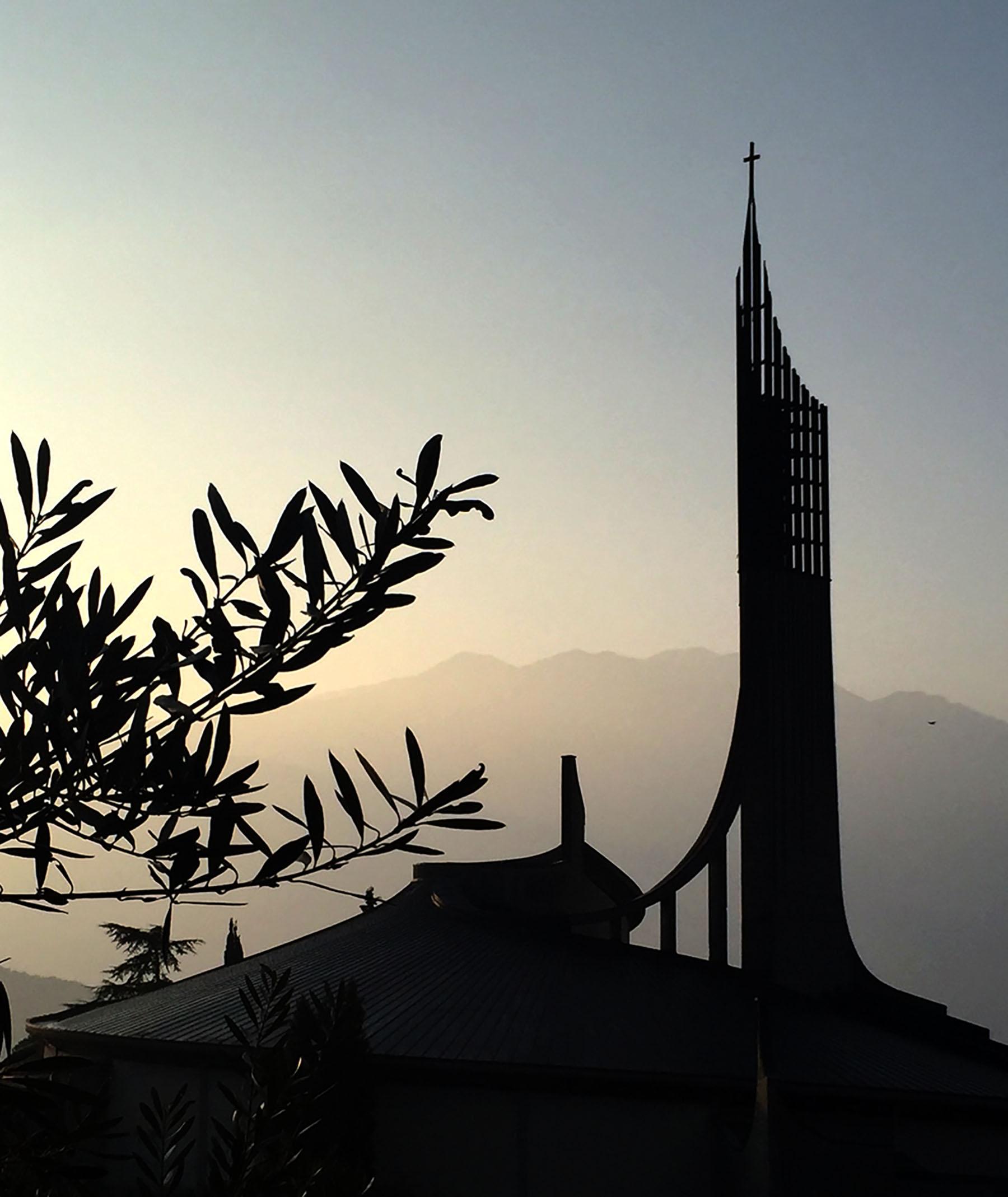 San Giovanni in Riva del Garda at sunset - awards venue