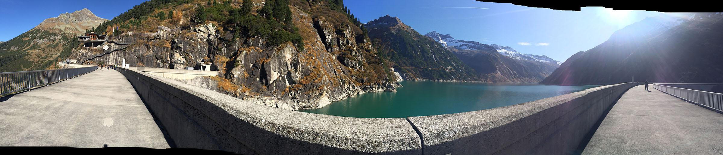 Dam at Zillergrund above Mayrhofen, Austria