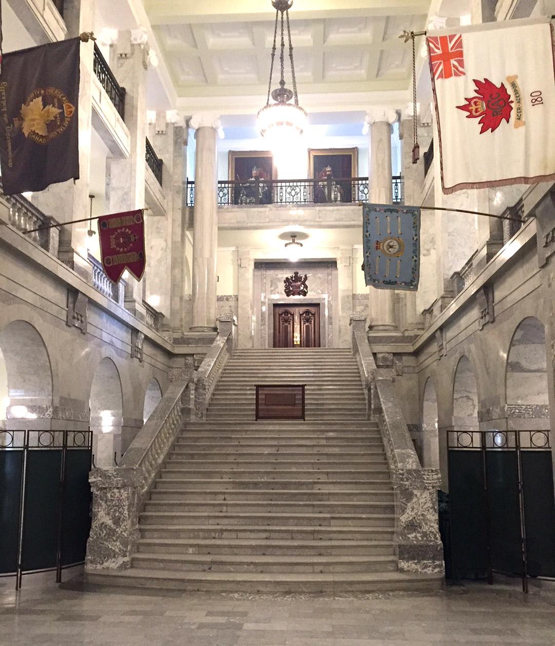 Main Stair to the Alberta Legislature Assembly