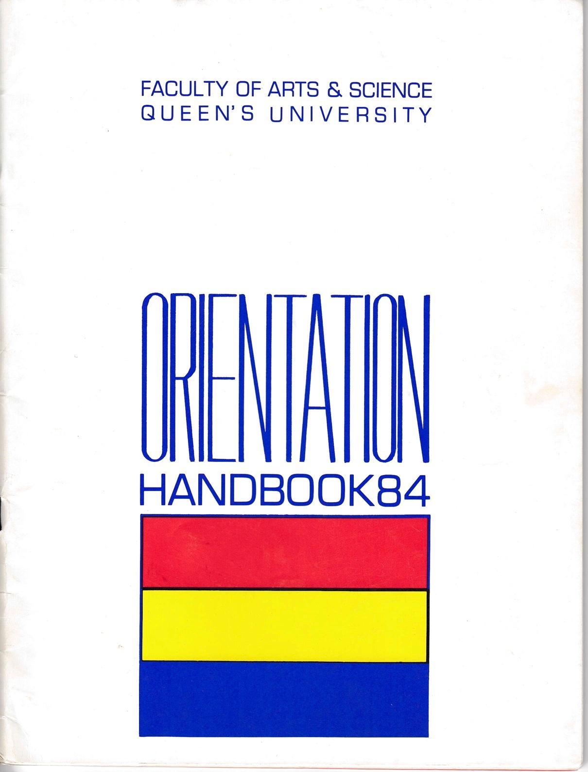 Orientation handbook cover 1984.jpg