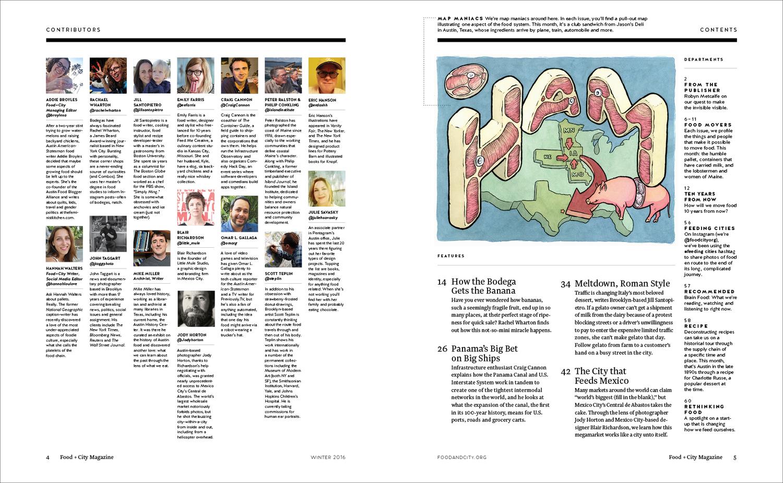 Food + City Magazine Issue I — 508 Creative