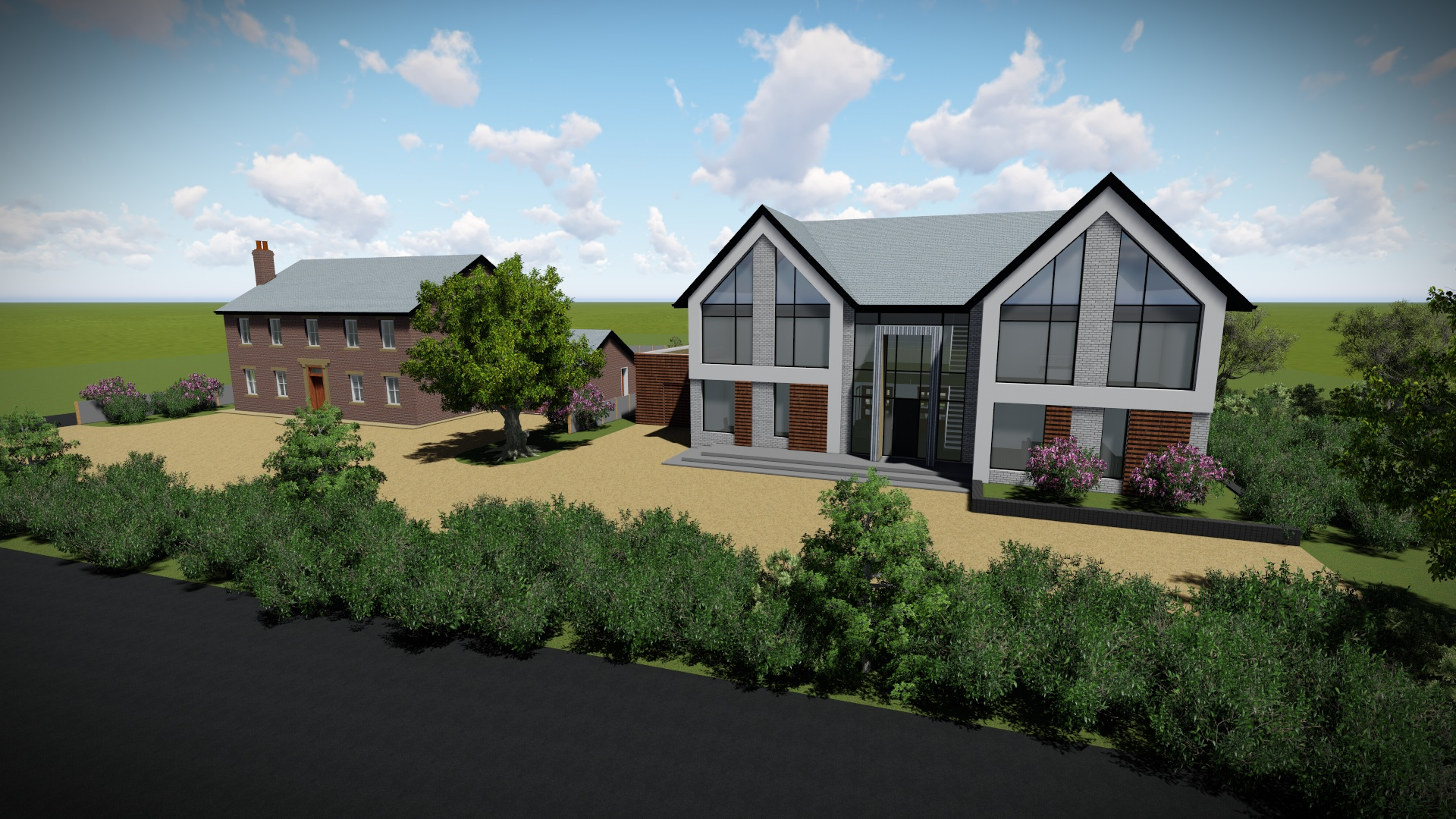 Front view design for self build development - Provided by Carter-Zub Building Consultancy