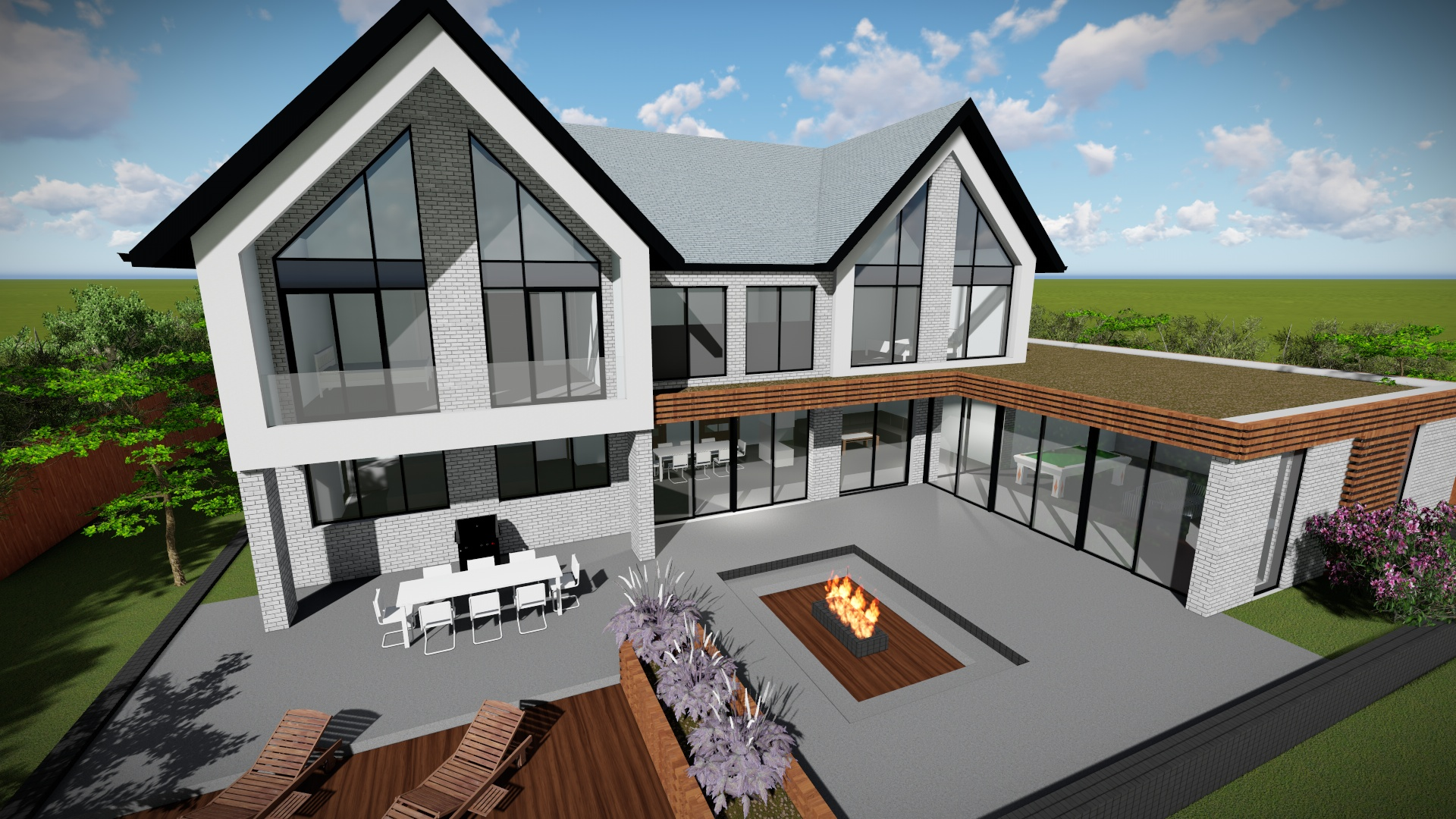 Rear view design for self build development - Provided by Carter-Zub Building Consultancy