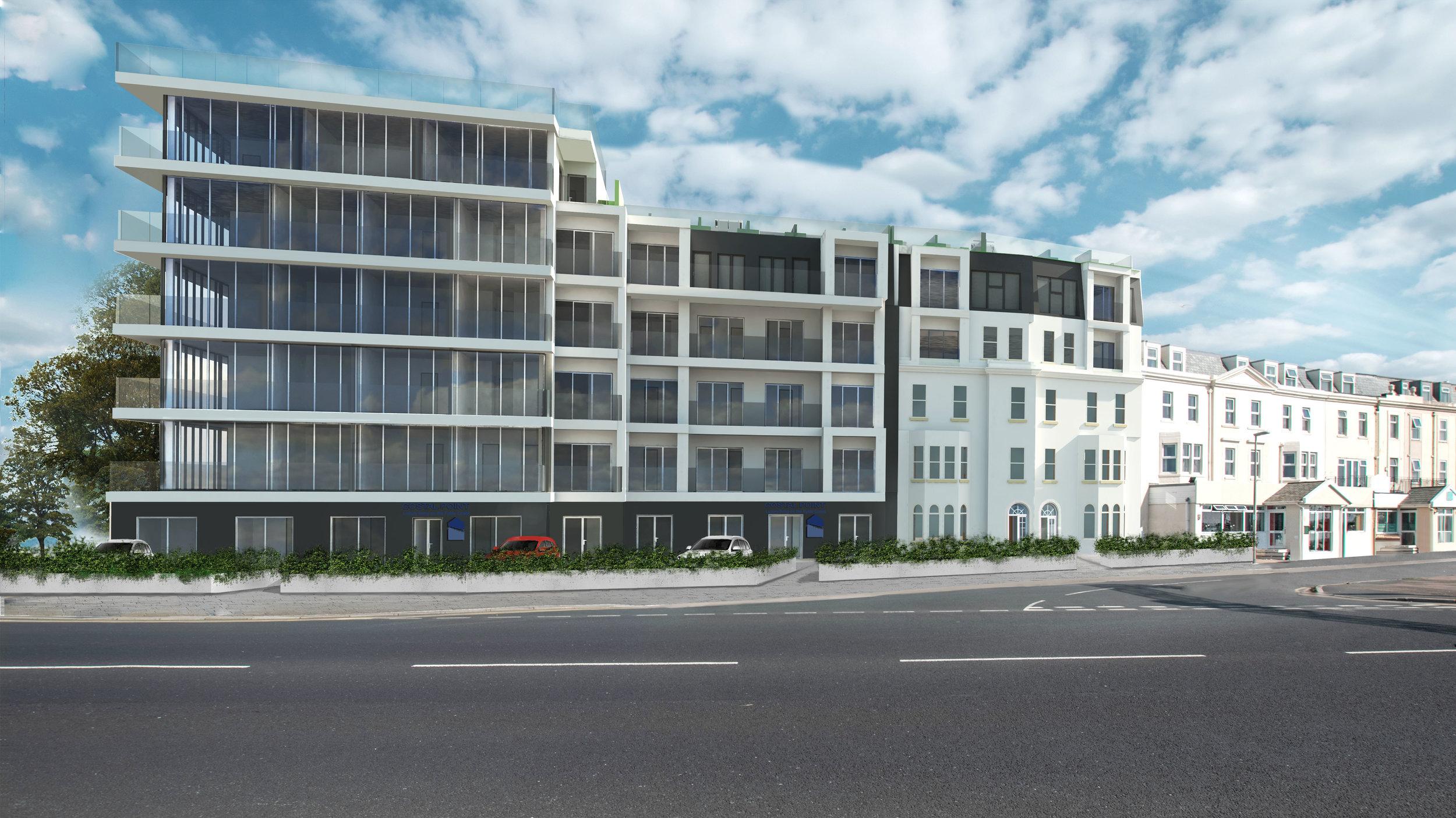 Carter-Zub apartment block visualisation, Fylde Coast
