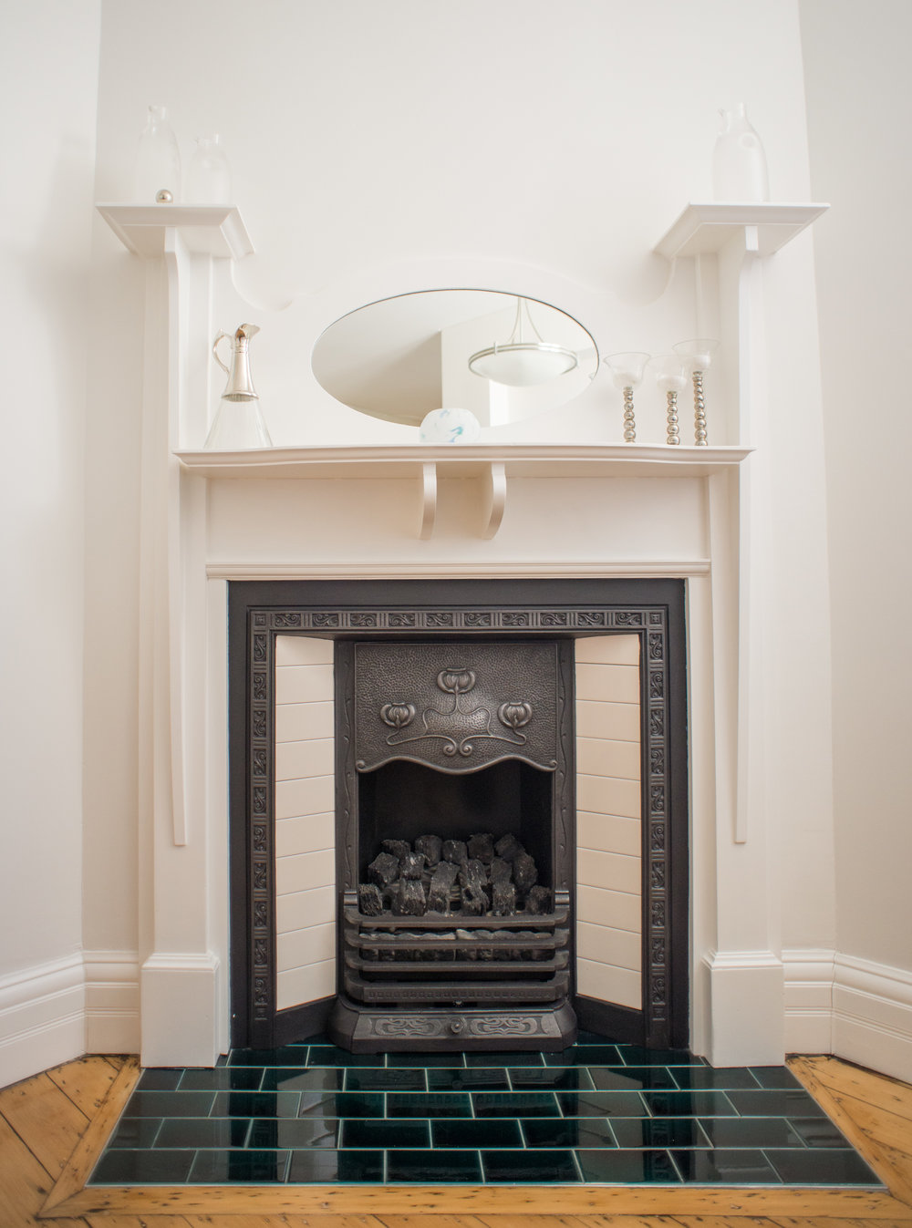 Painted fireplace in a Mosman home