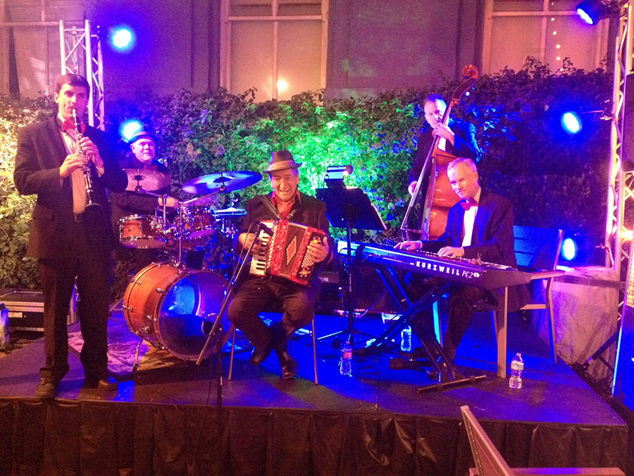 Italian Band with accordion and clarinet.