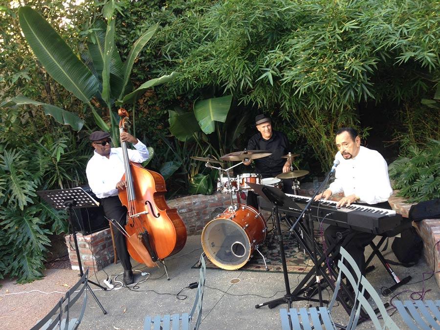Classic Jazz Trio at LA wedding.