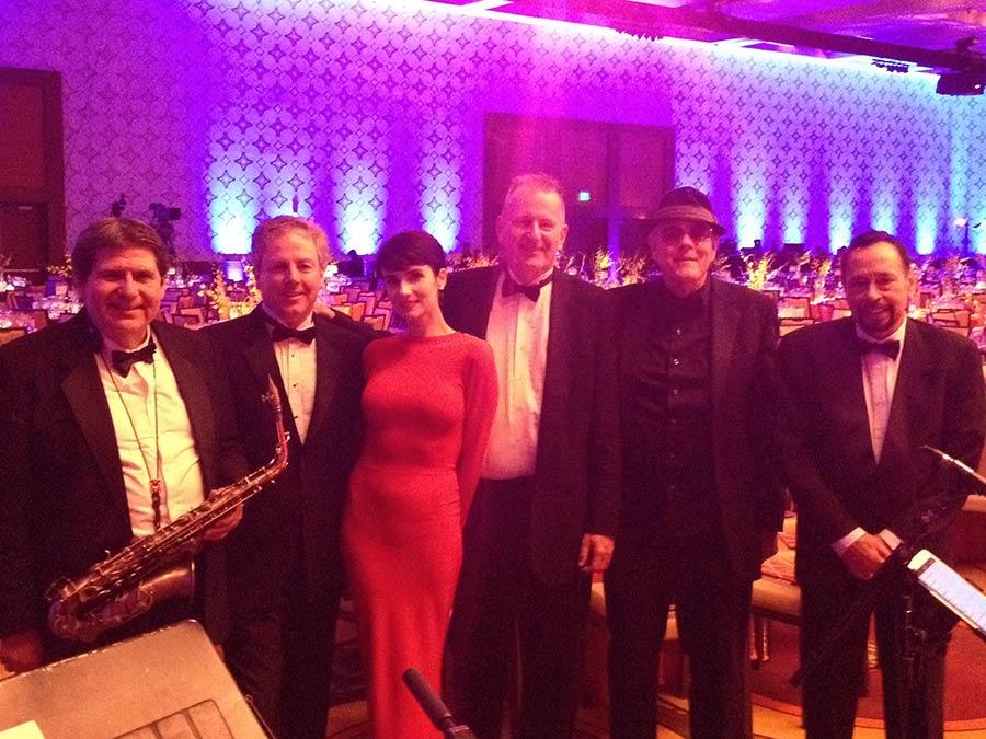 Elegant jazz for the Mayor at the Marriott.