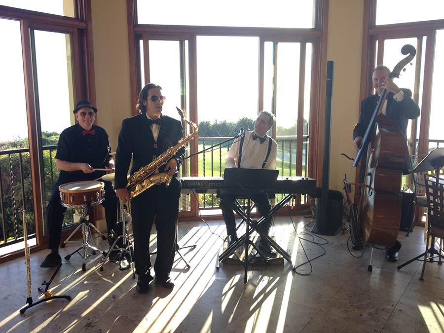 Swinging wedding quartet at The Trump Resort in Palos Verde