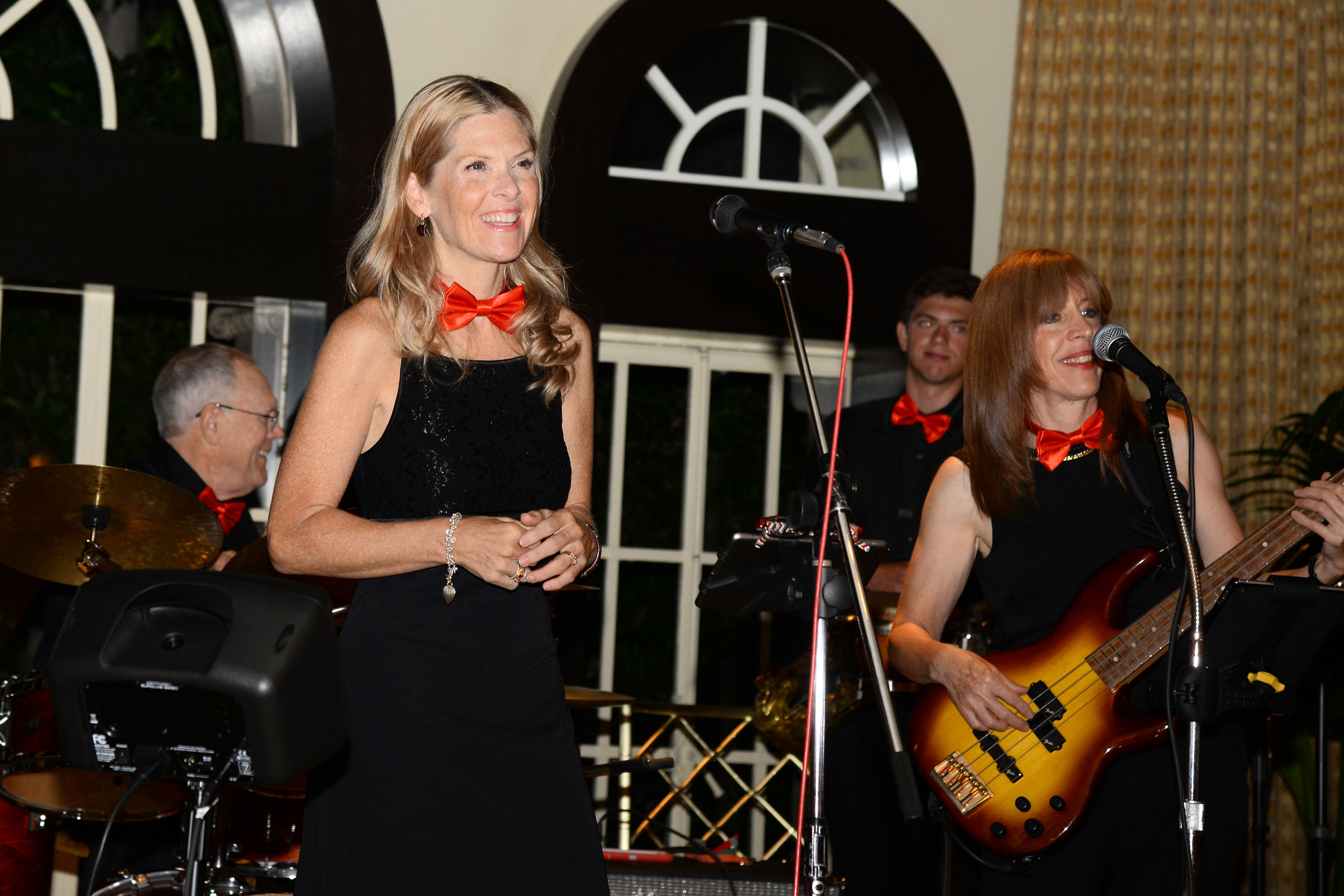 Karla Kelly with our variety band at The Beverly Wilshire Hotel