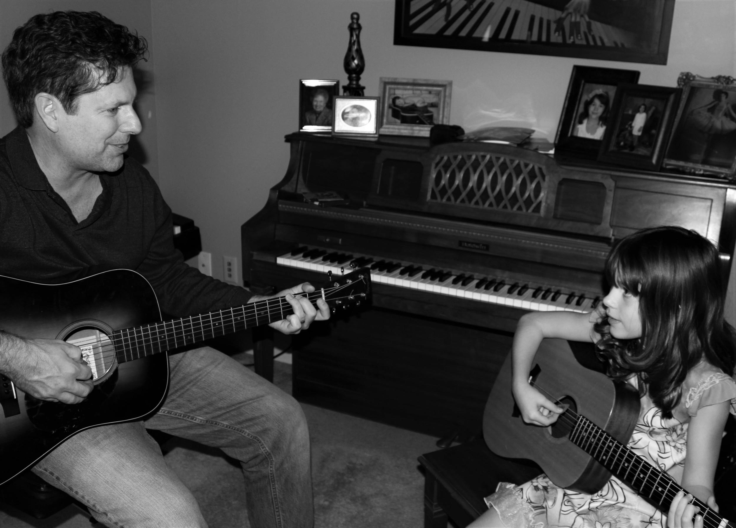 Pickin' with my favorite guitar player - Elsie Wickham