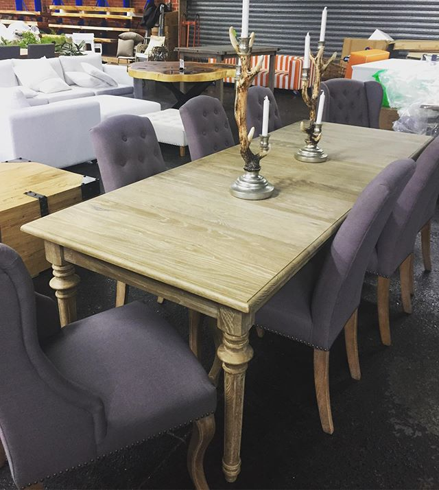 Dining Deal of the WEEK! 2.4M x 90CM dining table set inc 8 x dining chairs RRP.$3190 - our price $2190. 1 x only floor stock sale #table