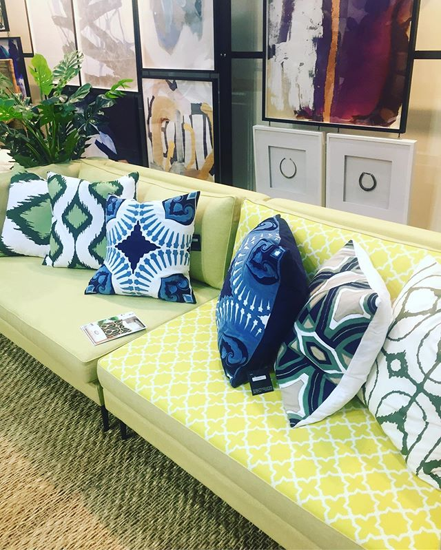 Outdoor Style with comfort of indoor living. Thrilled to be dressed up by @bhdaus outdoor cushions on our reversible outdoor sofa made here in Melb. Come visit stand B26 @decordesignshow #designanddecor #outdoors