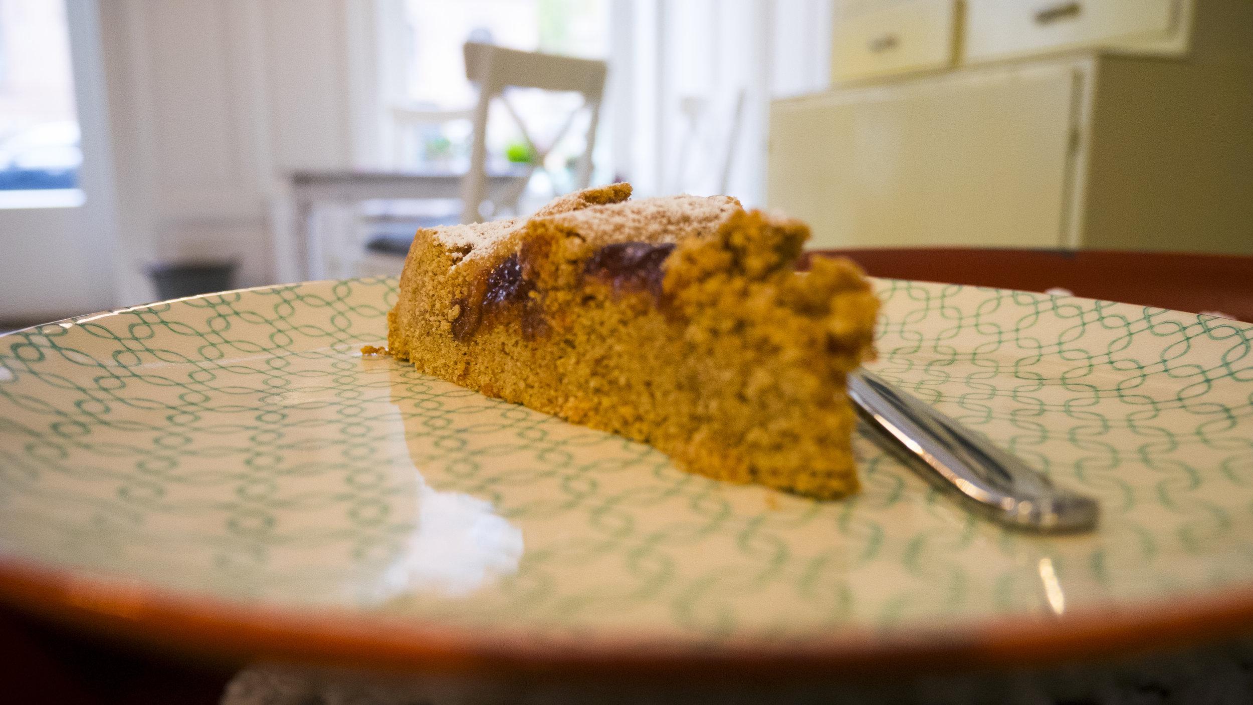 Kuchen im Zuckerkringel