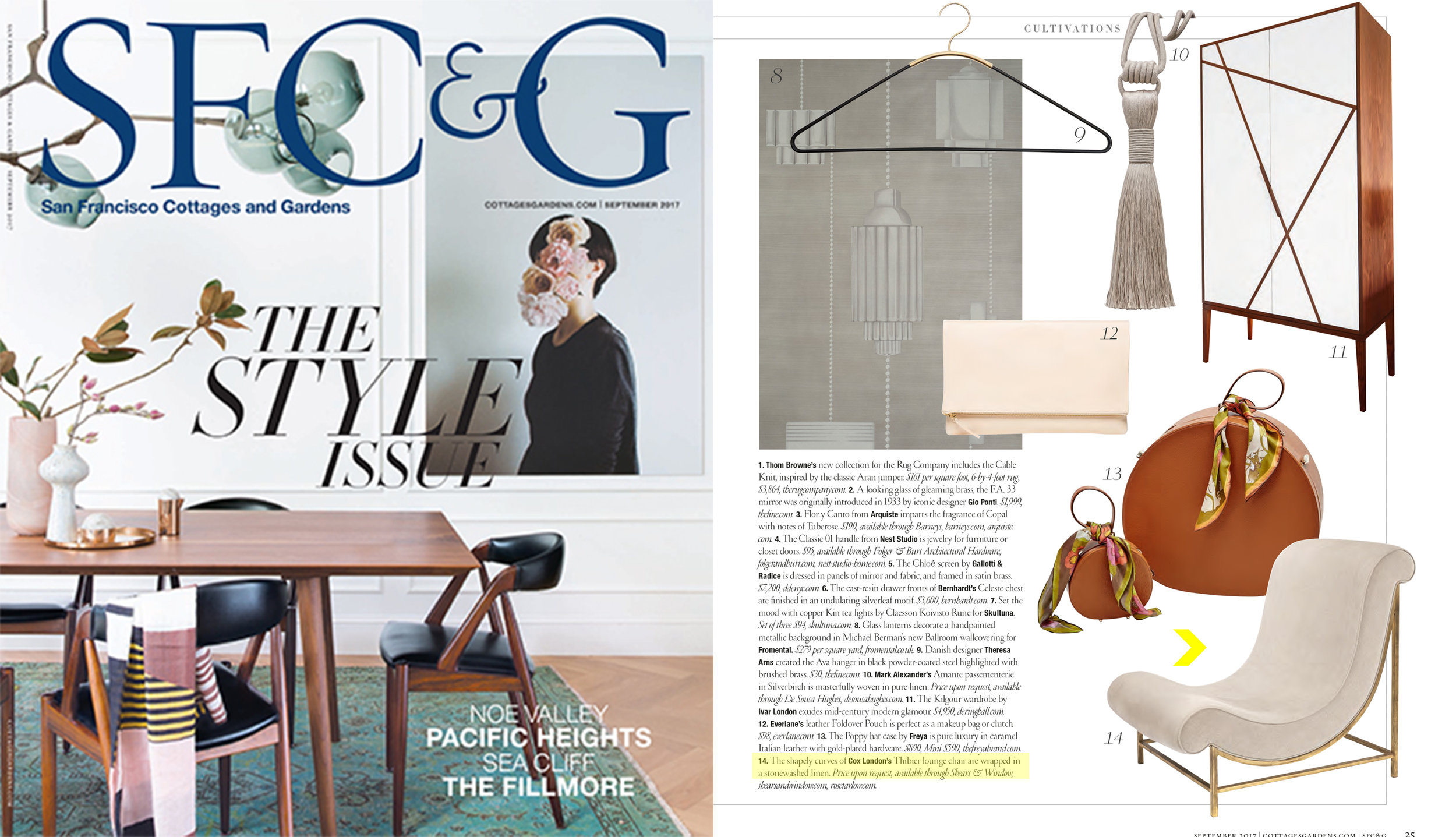 SF C&G // September 2017  Cox London for Rose Tarlow Melrose House  Thibier Lounge Chair