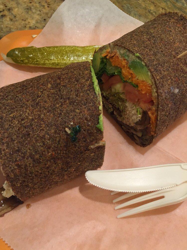 Rainbow Wrap w/ Mock Tuna - Zia's Cafe