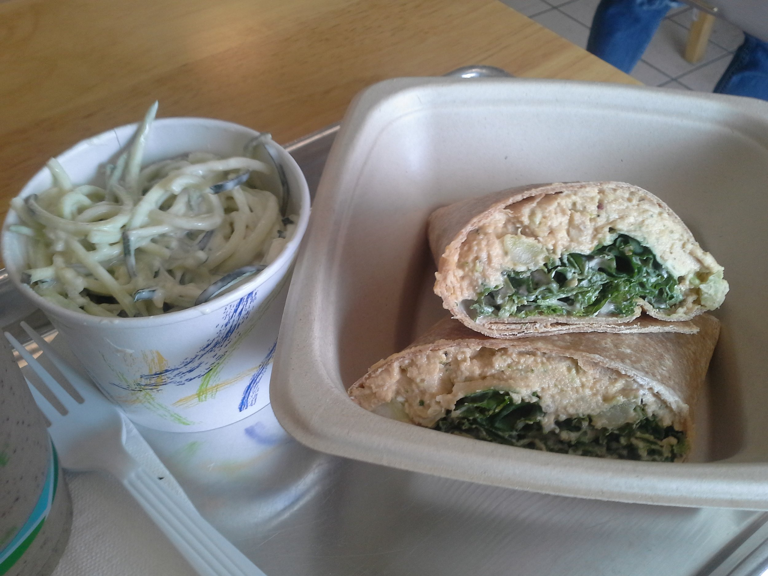 Zucchini Alfredo & Veggie Tuna Wrap - Plant Strong