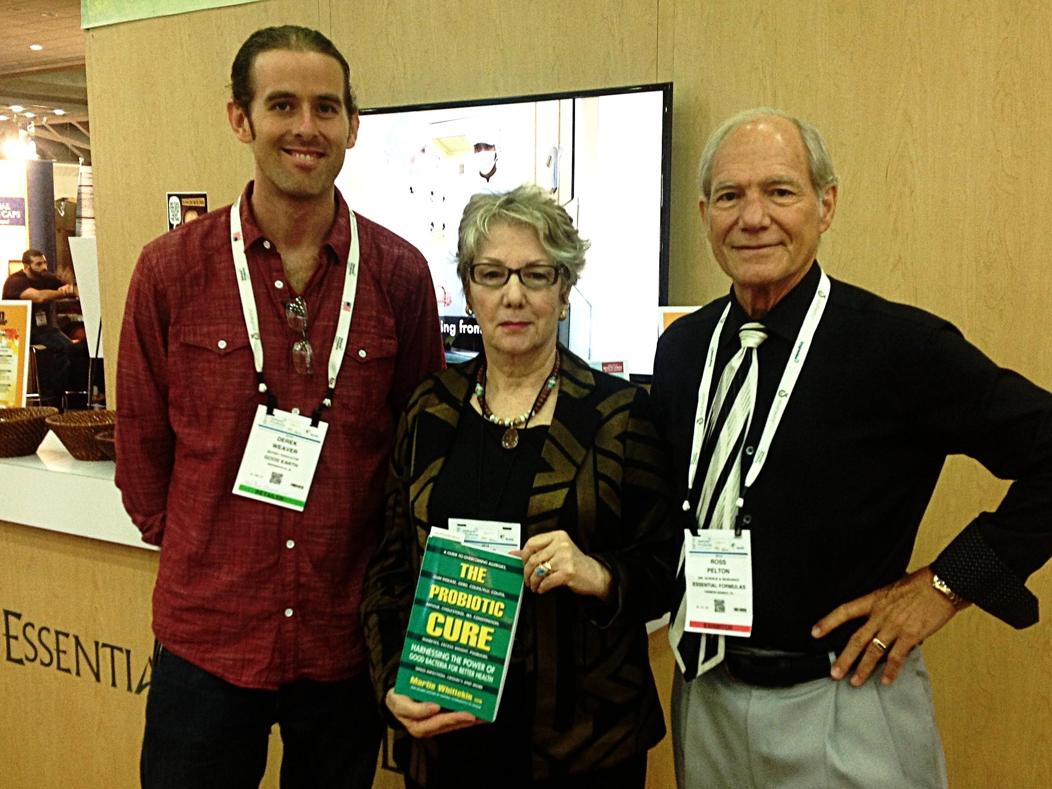 Myself, Author Martie Whittenkin, and Essential Formulas Scientific Director Ross Pelton.