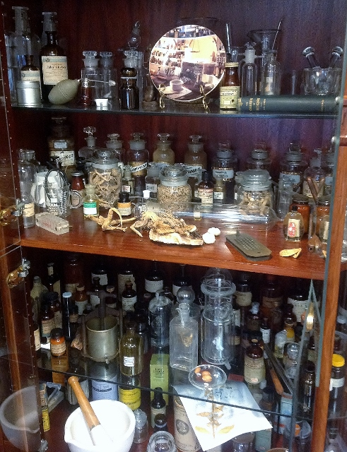 A whole cabinet full of treasures