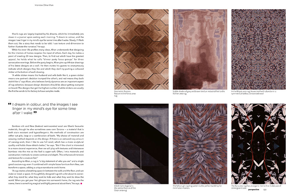 OMAR KHAN RUGS FEATURED IN PERSPECTIVE