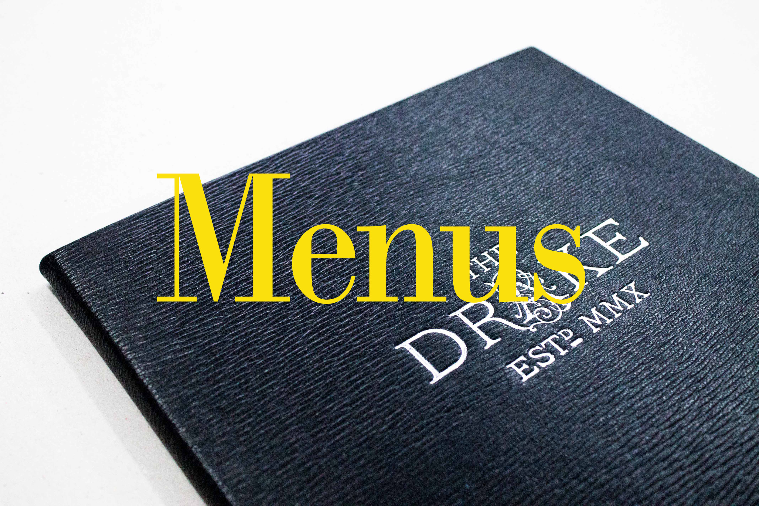 Bespoke Menus