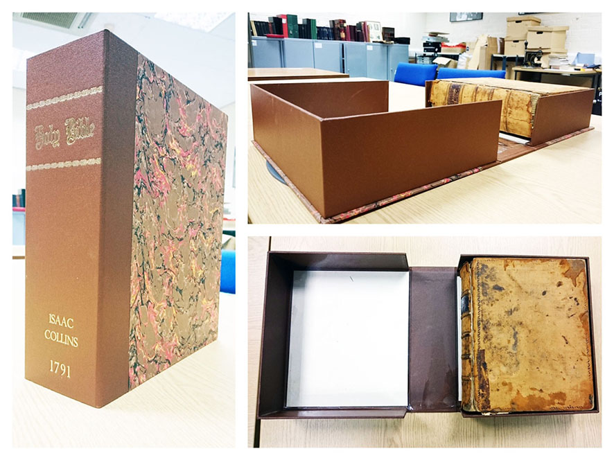Archival box with book