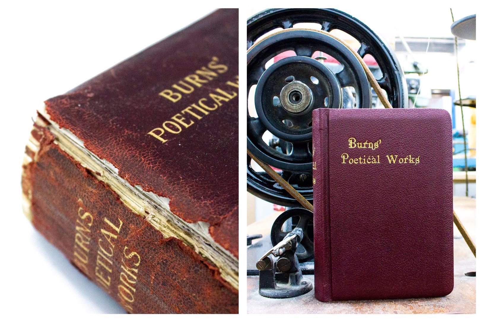 Book repair before & after