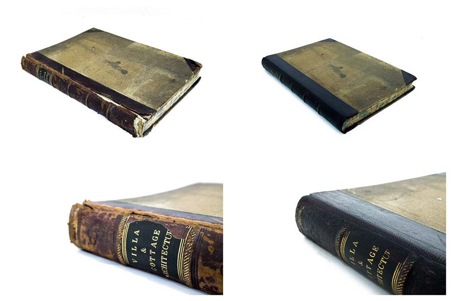 Leather book repair