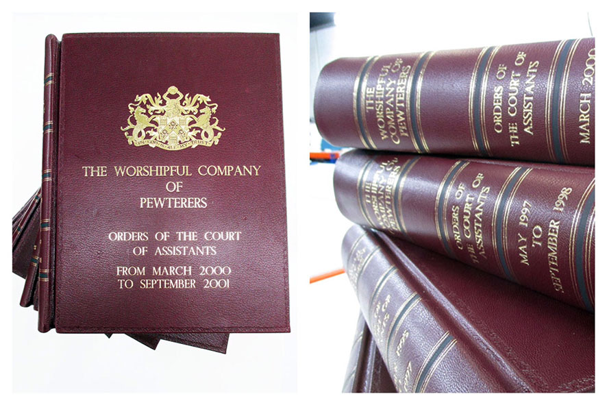 Worshipful company leather minute book