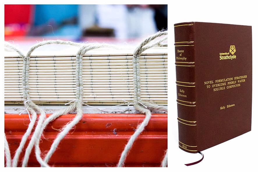 Hand Sewn book