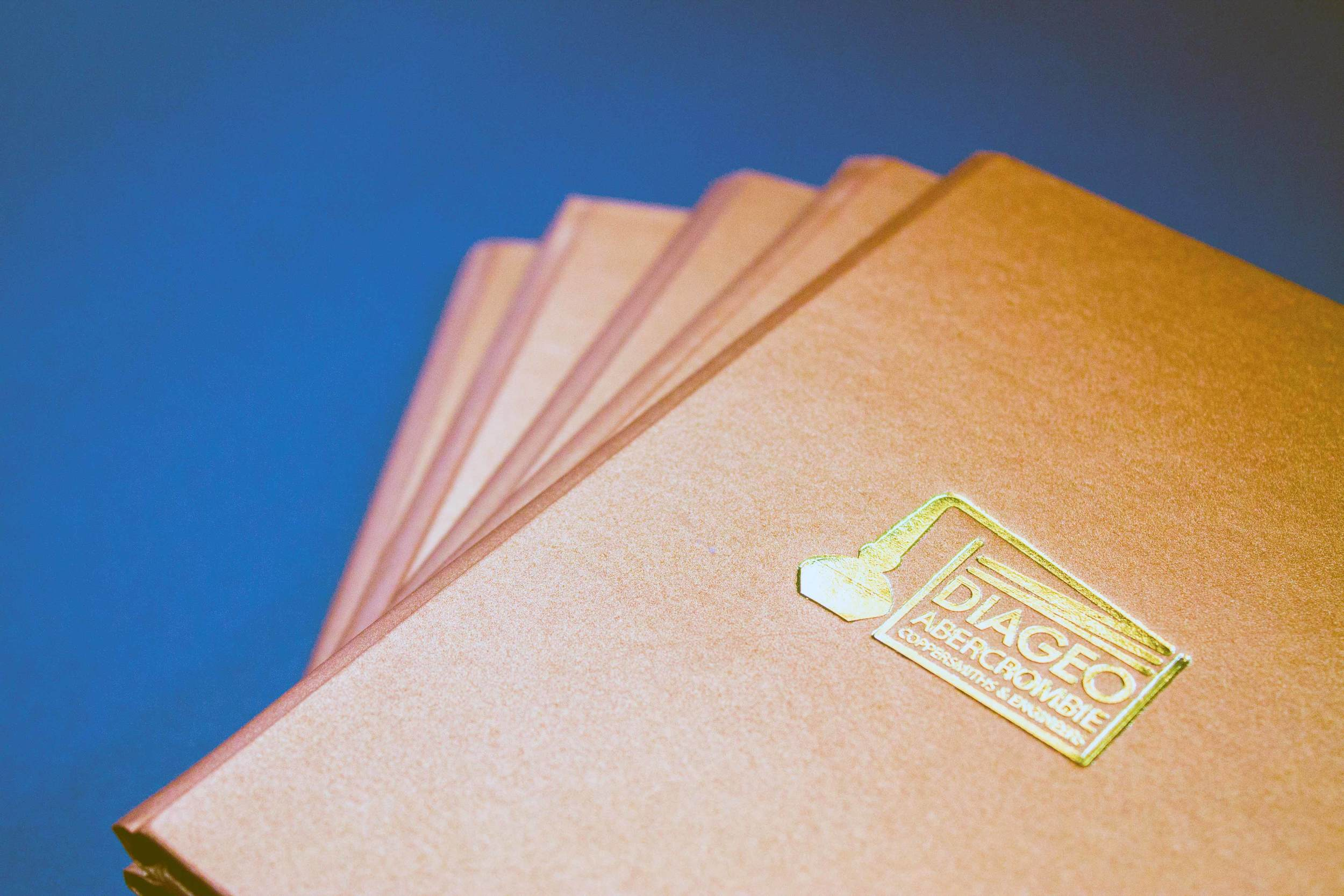 Small run books with bespoke brass stamps