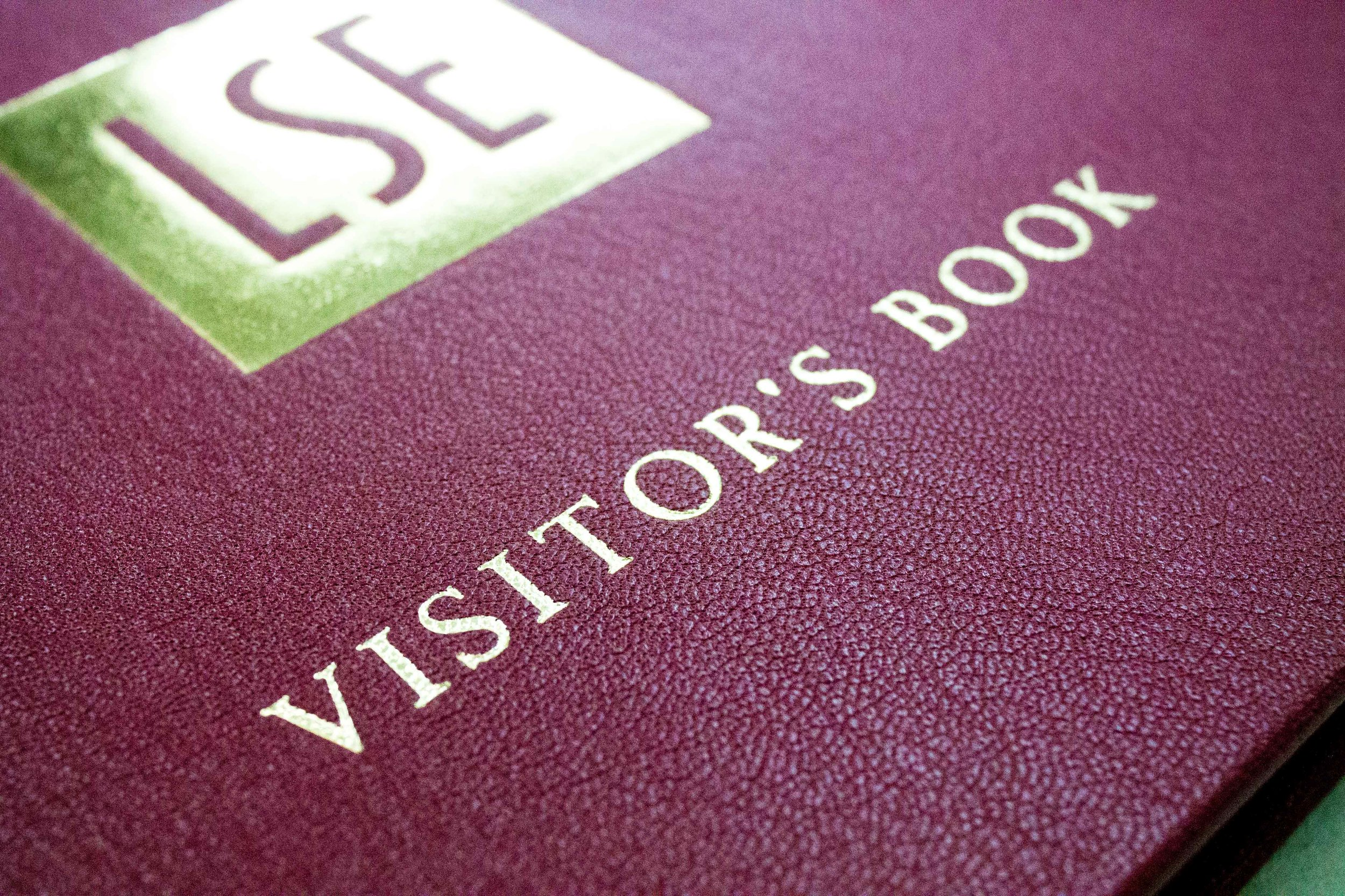 Bespoke Visitors' Book Leather and foil stamped