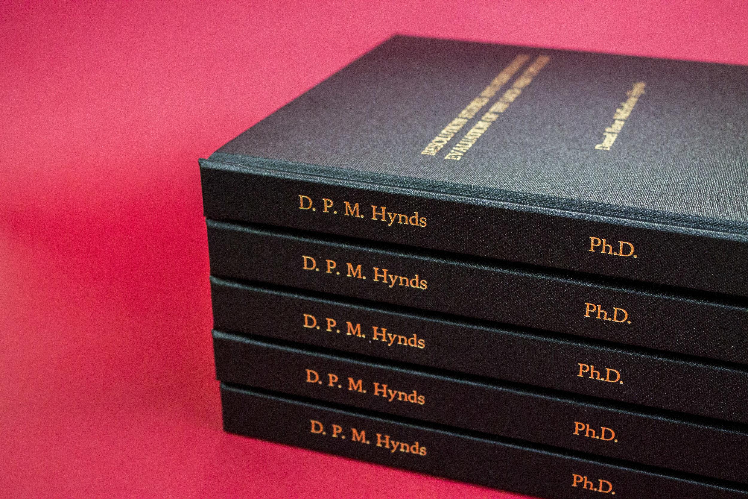 Thesis Binding — Downie Allison Downie Bookbinders