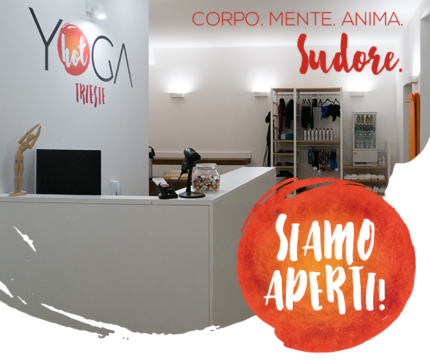 Yoga studio reception in trieste