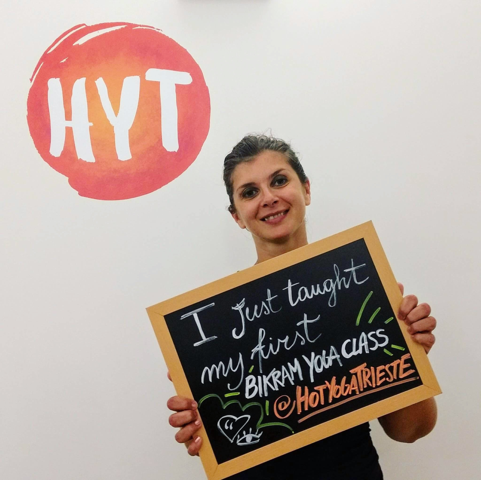 Betty's first class at Hot Yoga Trieste