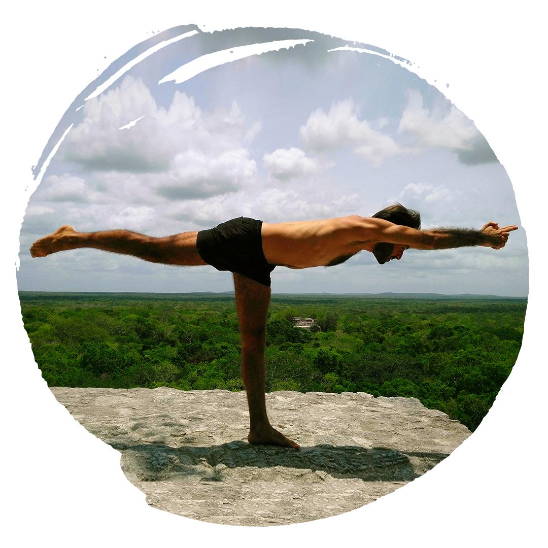 Javi balancing stick bikram yoga