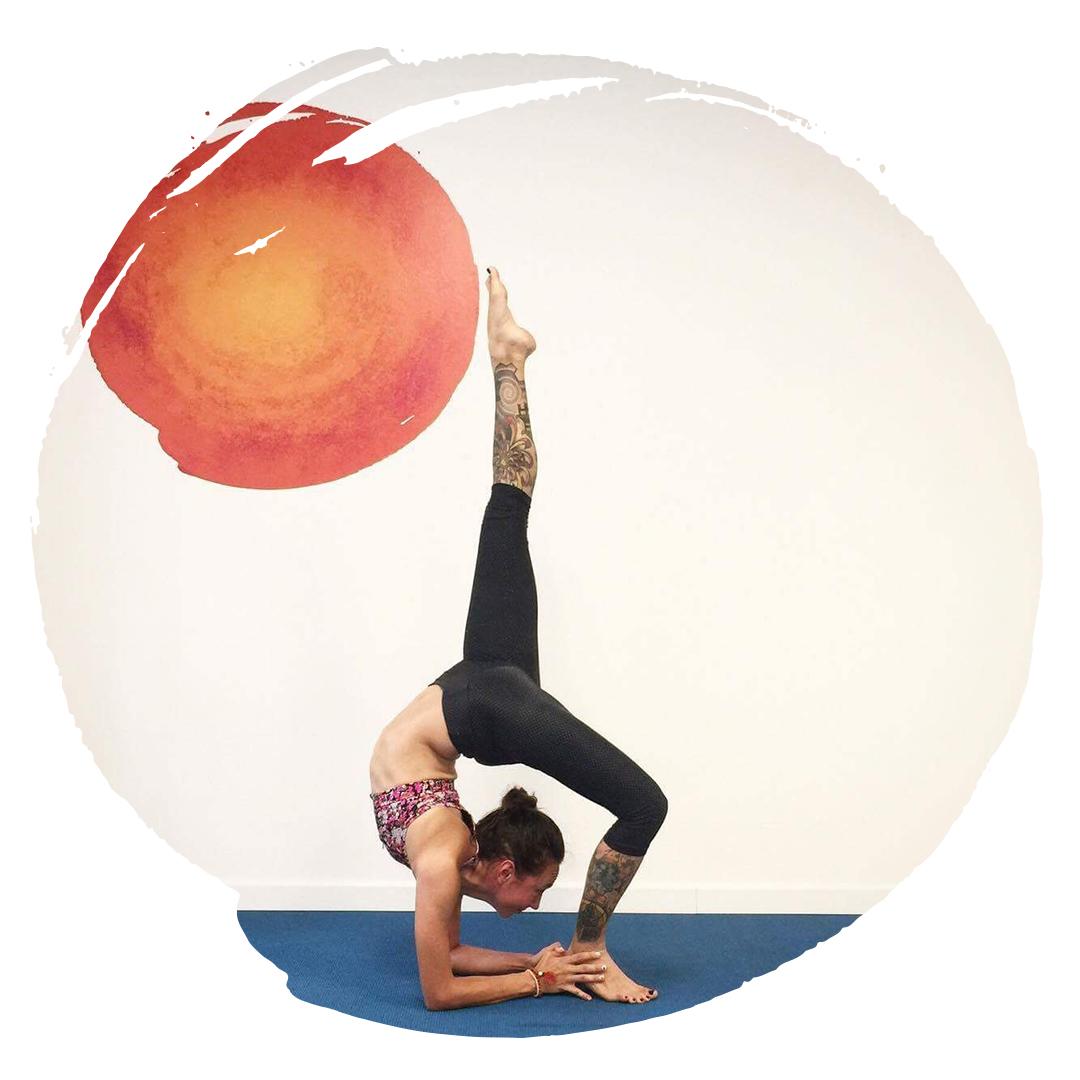 Roxanne Janecki One Legged Wheel Yoga