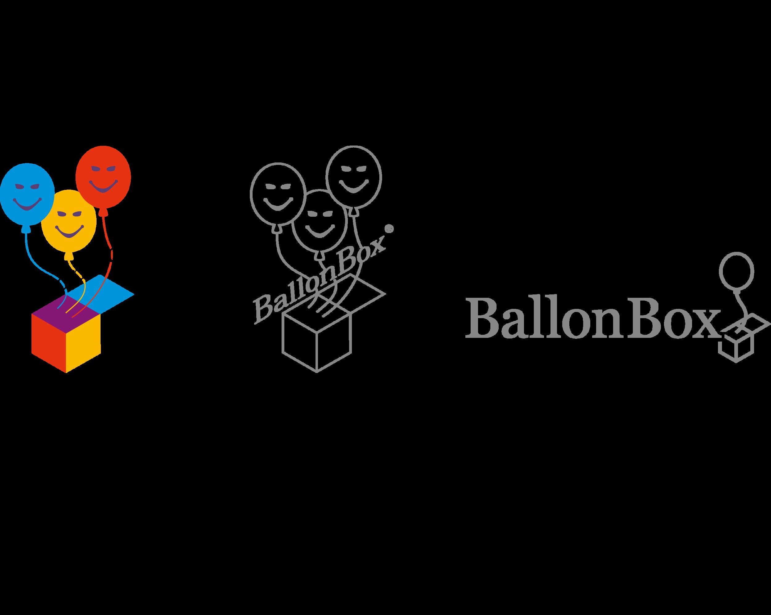 Entwicklungsphasen Logo Ballon Box