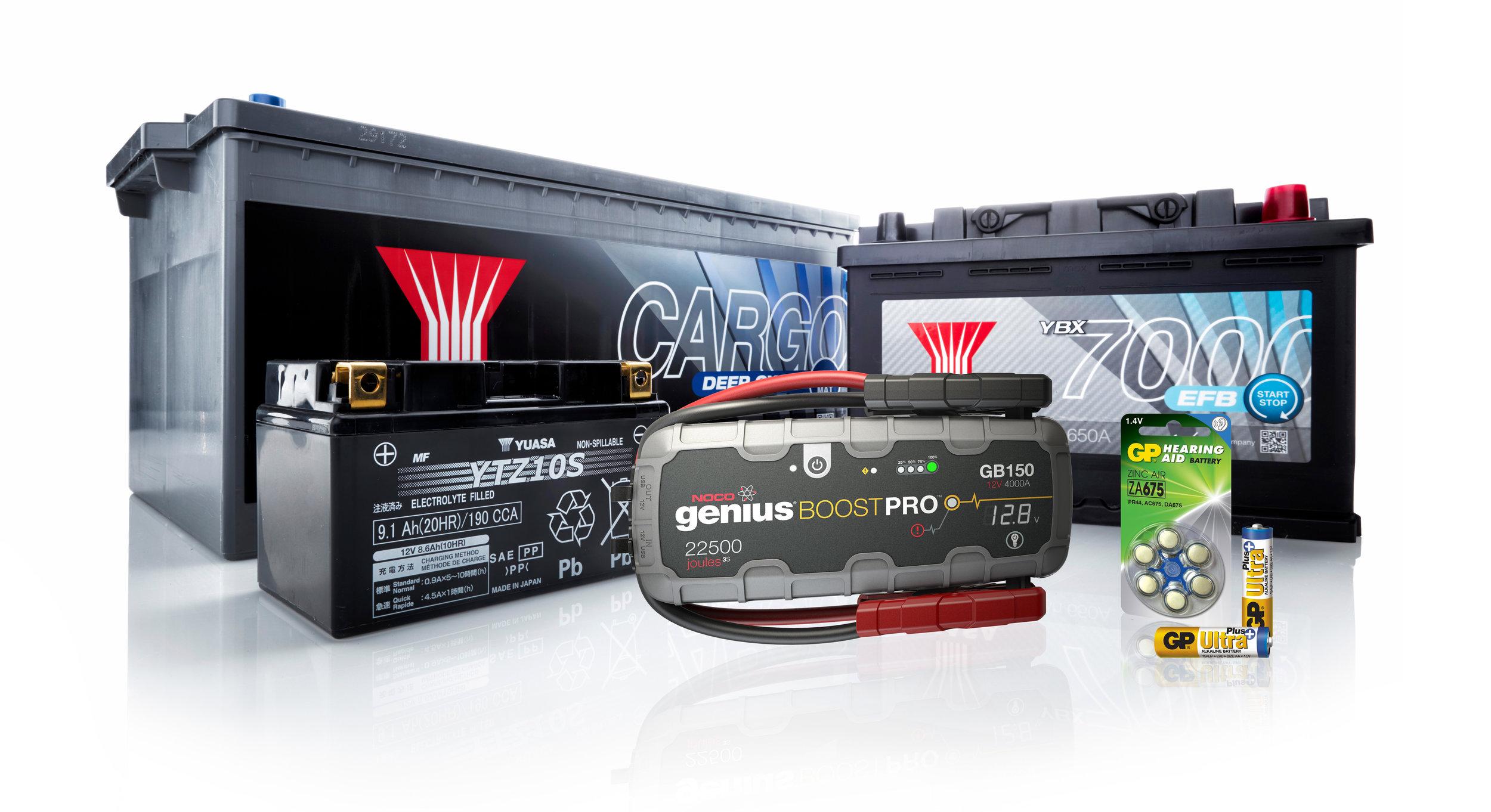 Batterier - gräsklippare