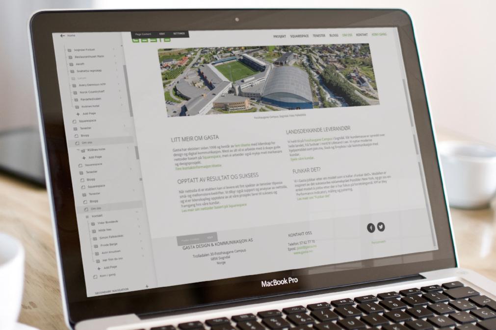 5. Implementering i Squarespace - Squarespace er publiseringsverktøyet vi utviklar alle våre nettsider på. Tidlegare har vi brukt DNN og WordPress, men vi opplever at våre kundar set stor pris på dette moderne, brukarvennlege verktøyet. Med Squarespace får du fordelen med å jobbe med