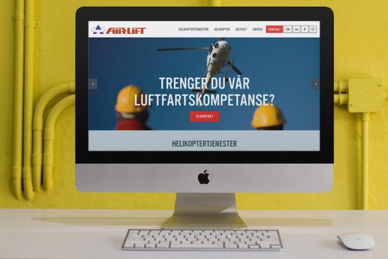 Airlift - Airlift AS er med sine 18 helikopter og 105 tilsette den største Nord-Europeiske tilbyder av innenlandske helikoptertjenester. Vi jobber tett saman med Airlift på nettsider, kommunikasjon og content marketing.