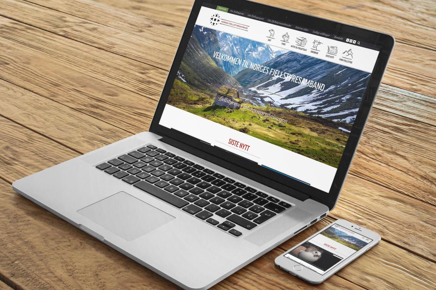 Nettside, intranett og nettbutikk - Prosjektet starta ved at vi utvikla nettside for Norges Fjellstyresamband. Eit enkelt intranett vart også utvikla i tillegg til at vi tok i bruk Squarespace eCommerce til nettbutikk, der tilsette i fjellstyra kan kjøpe bekledning.
