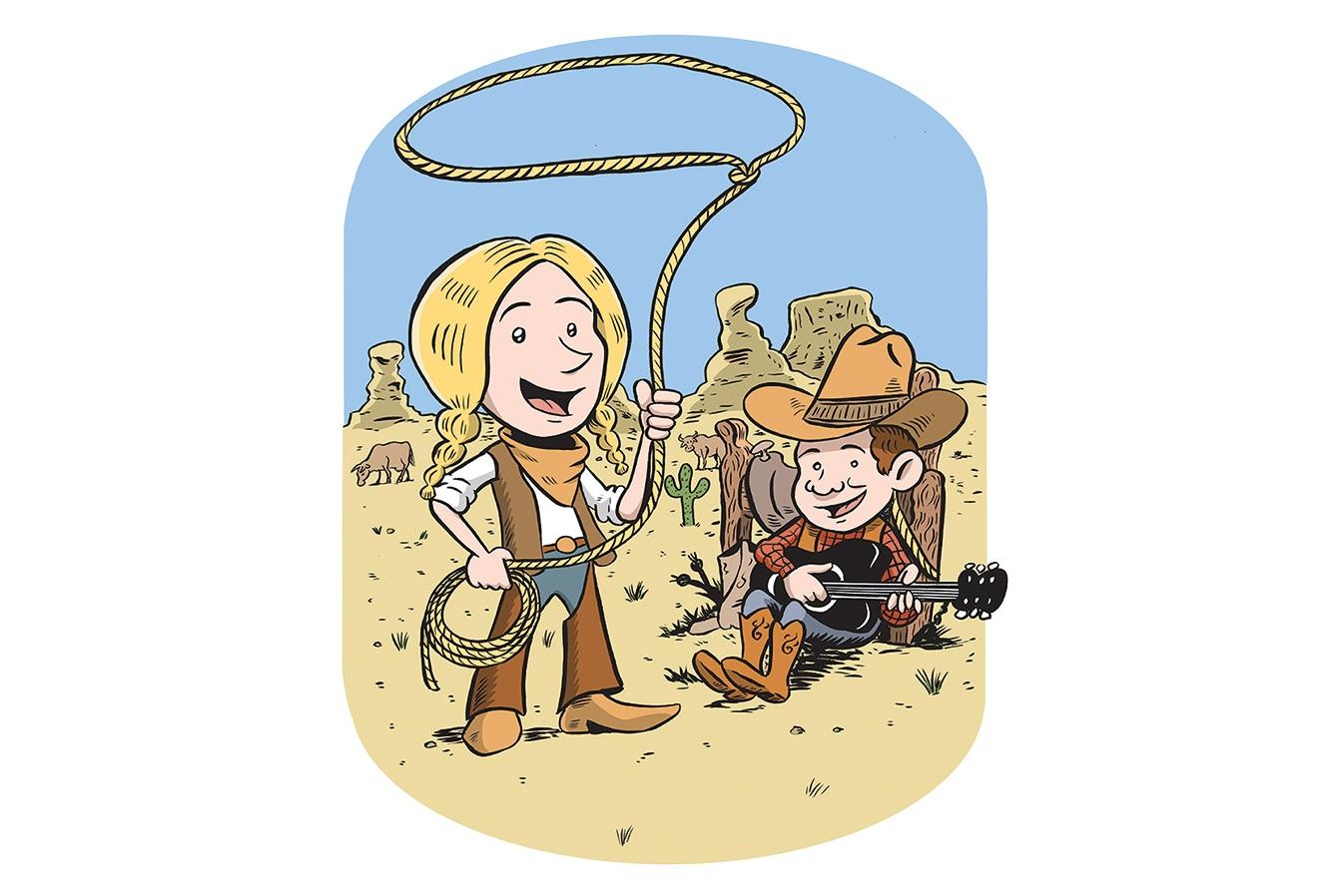 Illustrasjonar - Vi har også utvikla illustrasjonar, som f.eks denne som vart brukt til Barnas Country Treff.