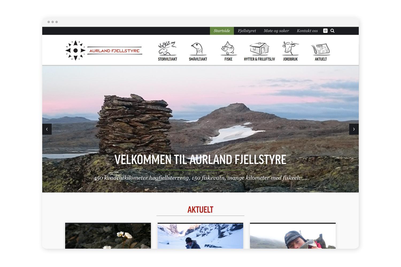 Nettsidemal - Vi brukte ein del tid på å utvikle ein gjennomtenkt mal som alle dei 94 fjellstyra i landet kan ta i bruk. Vart utvikla som template i Squarespace, og dermed enkel for oss å implementere.