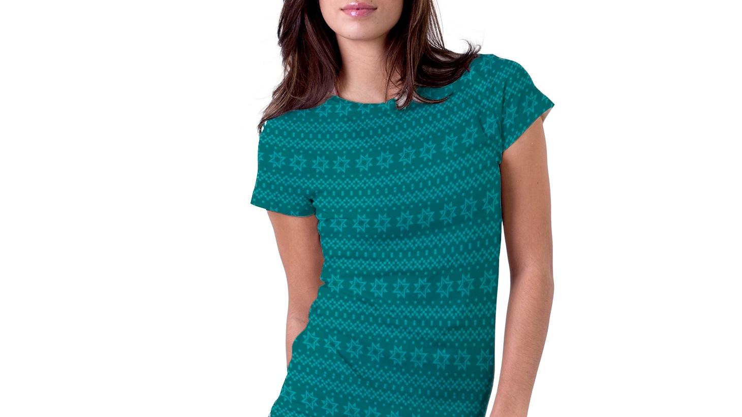 Mønster - Vi har også utvikla eit eige mønster basert på logoelementet, som f.eks kan brukast på klær.