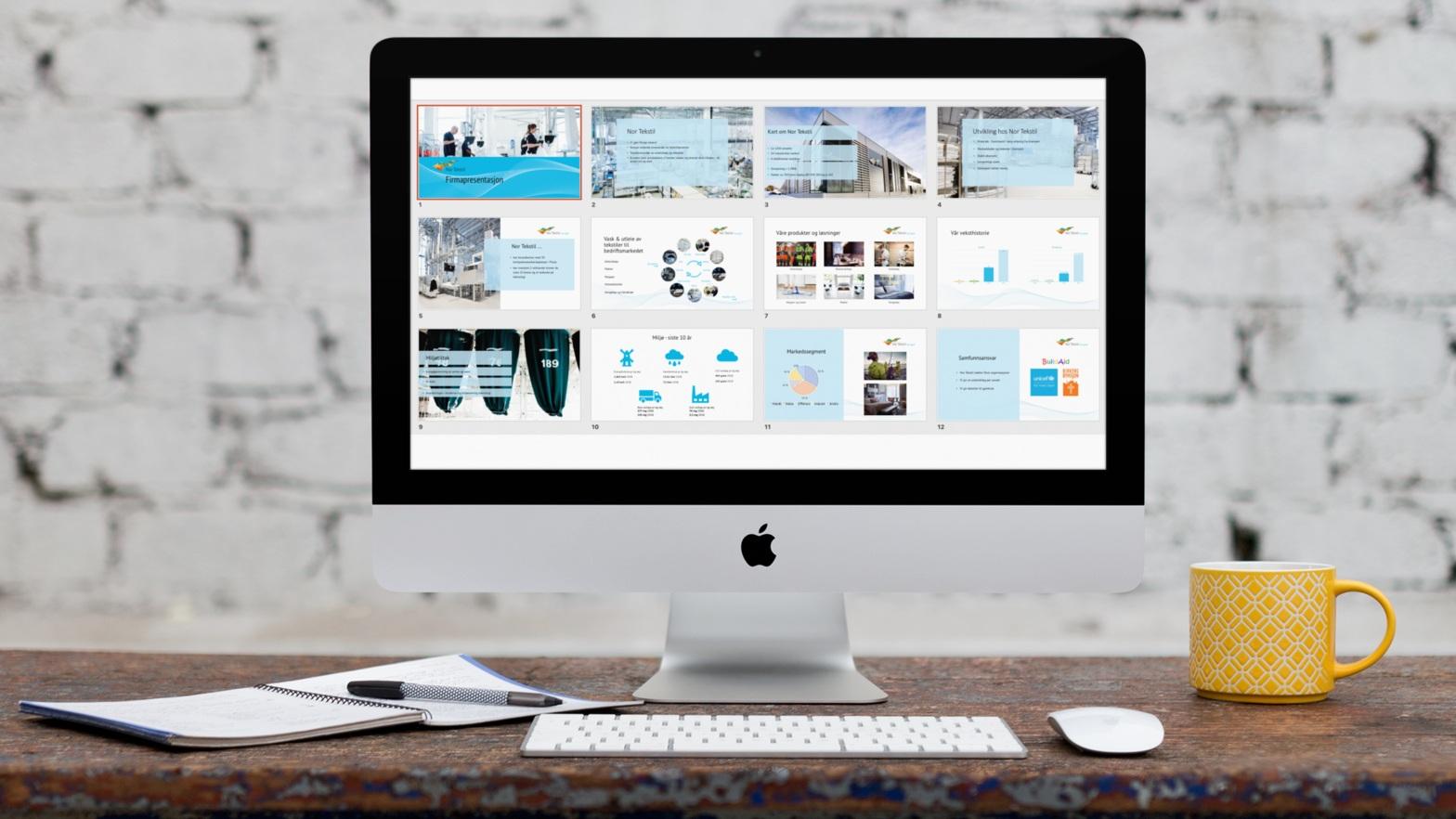 La Gasta hjelpe deg! - Våre designerar kan hjelpe deg med din Powerpoint-presentasjon.Vi kan:1. Utvikle Powerpoint-mal (tema + lysbildeoppsett) - så gjer du resten av presentasjoneneller2. Utvikle ein komplett, seljande presentasjon med design og kommunikasjon som treff målruppa.