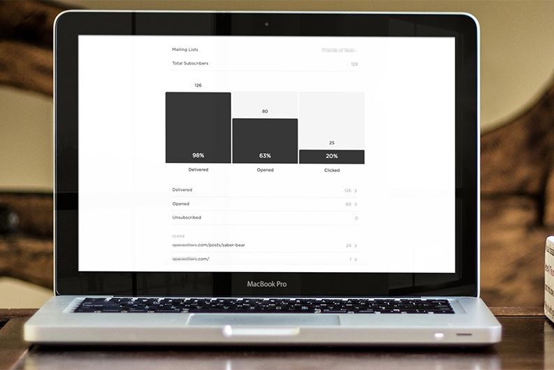 Statistikk, analyse og email automation - Squarespace nyheitsbrev har enkel tilgang til statistikk på kampanjen. Send ut, studer statistikken, analyser, lær og juster neste gang. Squarespace Email Campaigns har også enkle funksjonar for automatisering. Send f.eks automatisk epost til folk som melder seg på nyheitsbrev-lista.